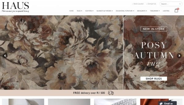 hertexhaus ecommerce website design