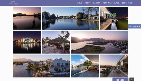 marina views accommodation website design